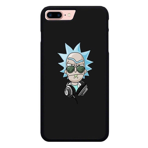 Rick And Morty DJ P1985 hoesjes iPhone 7 Plus , iPhone 8 Plus