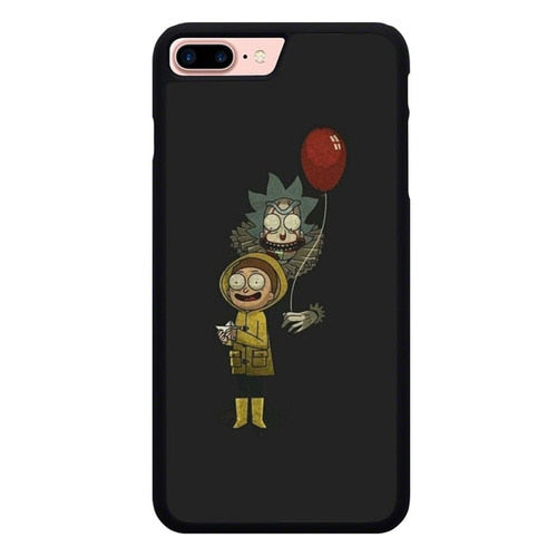 Rick And Morty x IT P1986 hoesjes iPhone 7 Plus , iPhone 8 Plus