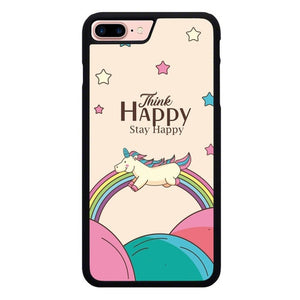 Think Happy Stay Happy P2028 hoesjes iPhone 7 Plus , iPhone 8 Plus