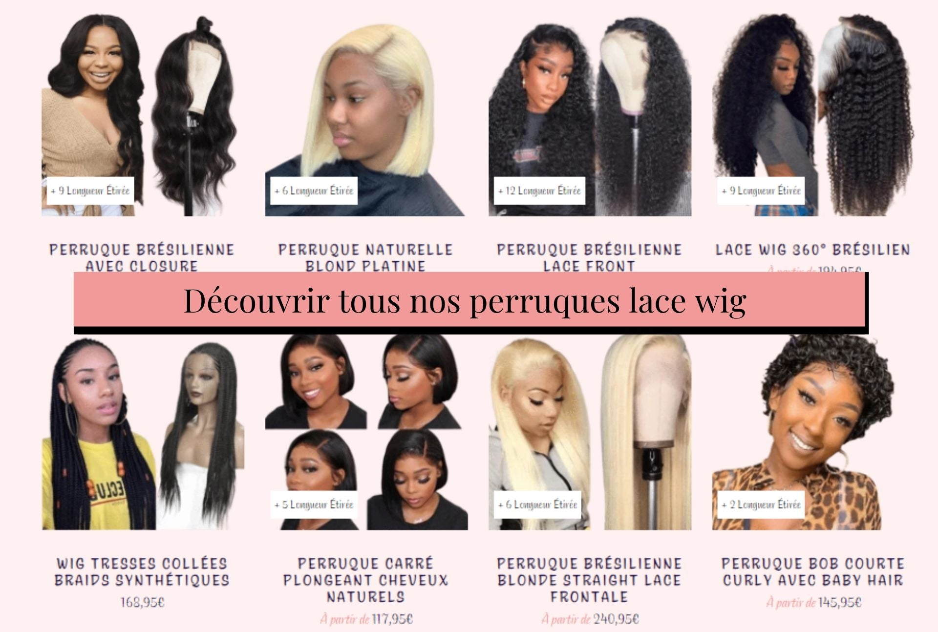 collection perruques Lace Wig