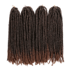 lot de 4 paquets de Fausses Locks Longues noires et marrons