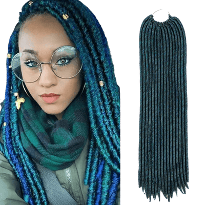 Lot de 16 mèches de Fausses Locks Bleues