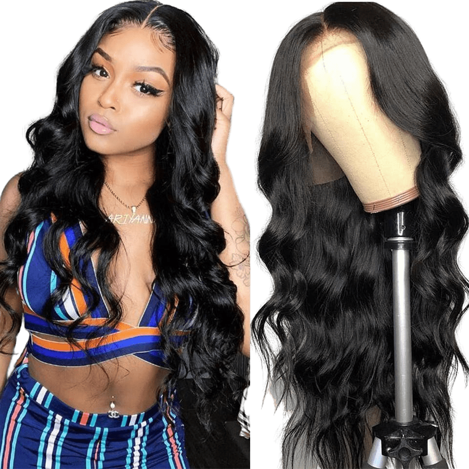 femme portant une perruque peruvienne body wave