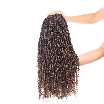 Mèches Vanille Afro Twist reflet marron