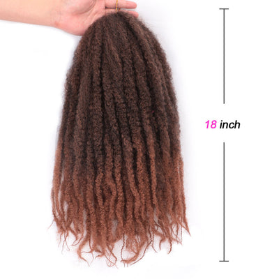 Meches Synthétiques Pour Crochet Braids tie and dye maron