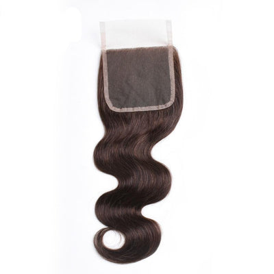 lace closure marron chocolat body wave 4x4