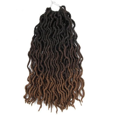 Fausses Locks Tie And Dye noir et marron