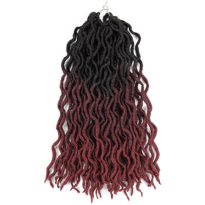 fausses locks tie and dye noires et bordeaux