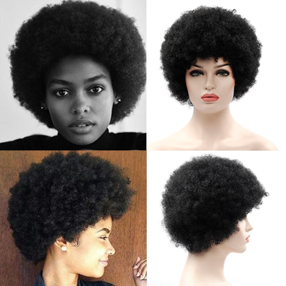 perruque afro courte style jackson five