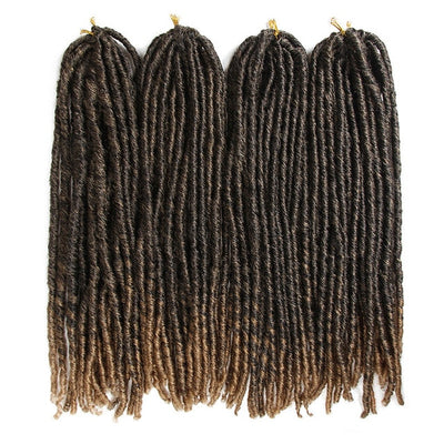 lot de 4 paquets de Fausses Locks Longues noires et blondes tie and dye