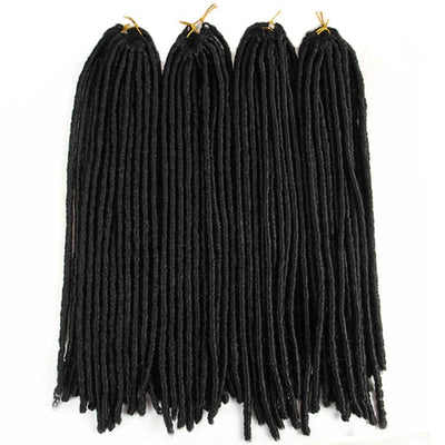 lot de 4 paquets de Fausses Locks Longues noires