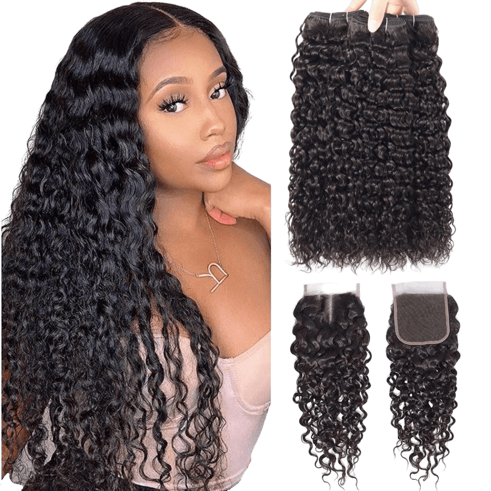 Tissage Brésilien Water Wave Avec Top Closure