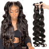 femme portant un tissage péruvien long body wave