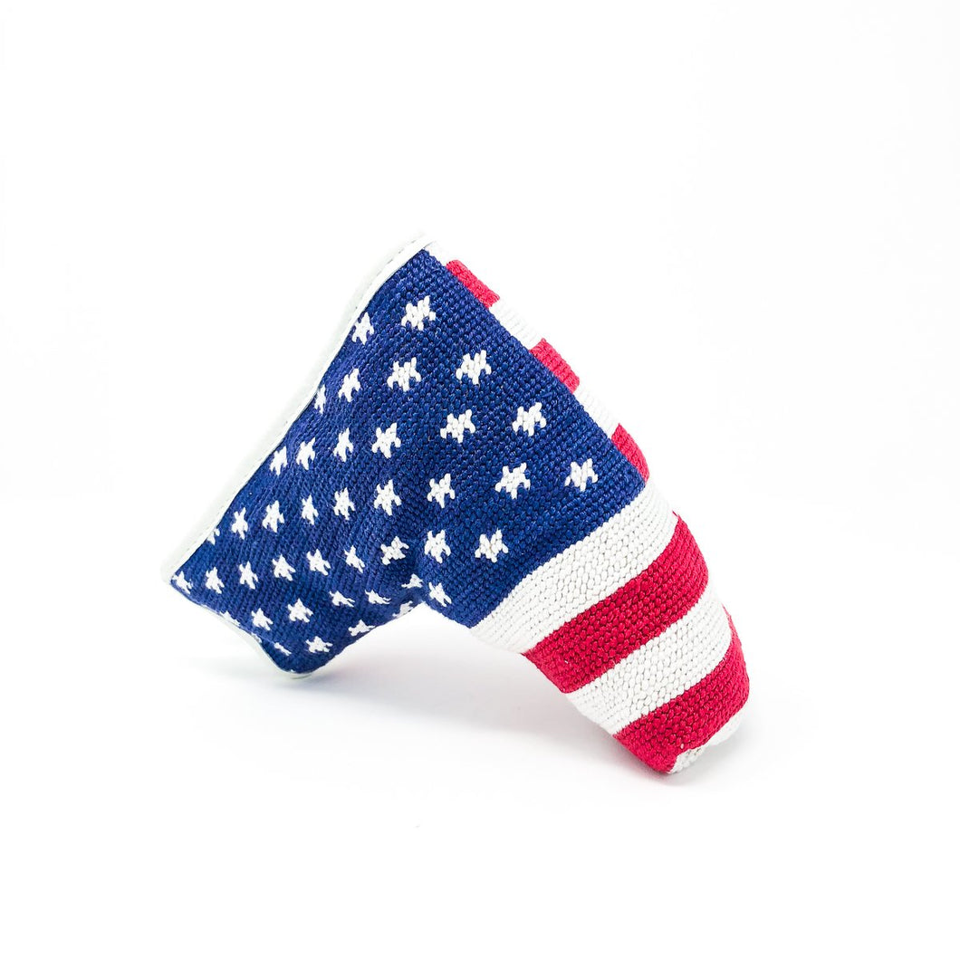 American Flag Needlepoint Putter Cover