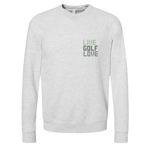 LIVE GOLF LOVE™ Golf Sweatshirt in Ash