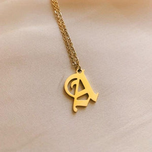 Monarch - Gold Initial Necklace