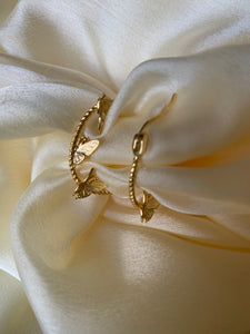 Angel - Sterling Silver Butterfly Hoops