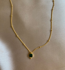 Nicolette - Dainty Malachite Necklace