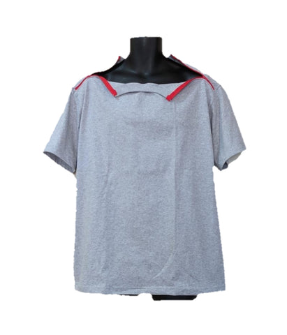 PICC LINE T-SHIRT - ASH - Red Zip