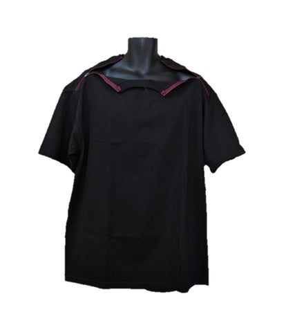 PICC LINE T-SHIRT - BLACK - Burgundy Zip