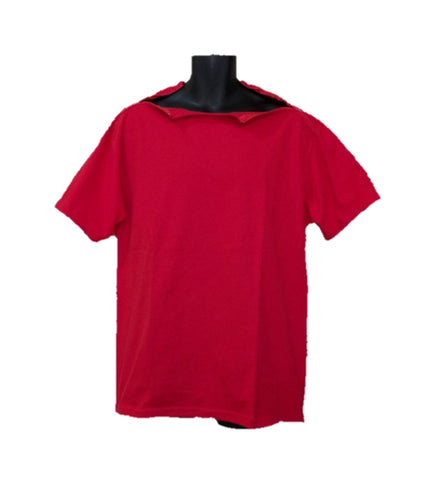 PICC LINE T-SHIRT- RED Red Zip