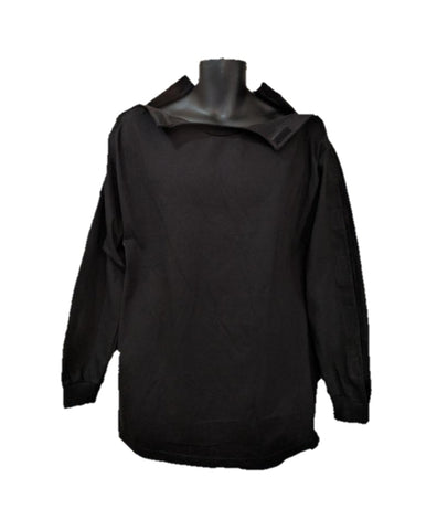 SHOULDER OPEN TSHIRT LONG SLEEVES - BLACK