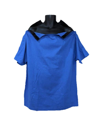 SHOULDER OPEN TSHIRT SHORT SLEEVES- ROYAL BLUE