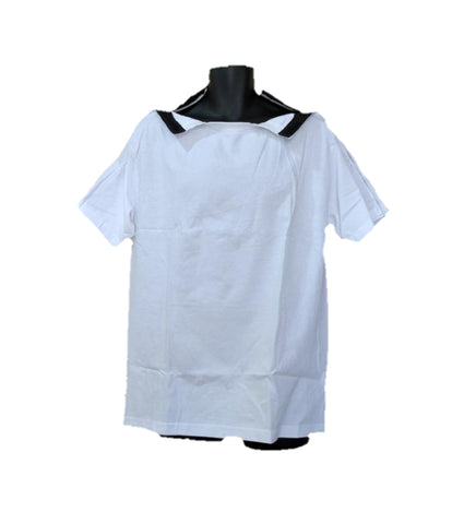 SHOULDER OPEN TSHIRT SHORT SLEEVES - WHITE