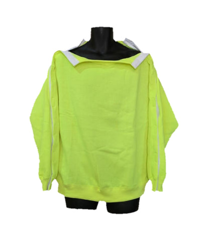 SHOULDER OPEN PICC LINE SWEATHSHIRT - SAFETY GREEN
