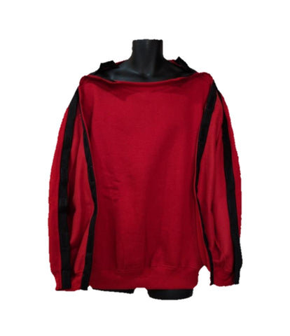 SHOULDER OPEN PICC LINE SWEATHSHIRT - RED