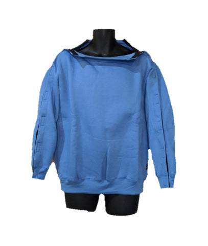 SHOULDER OPEN PICC LINE SWEATHSHIRT - SKYBLUE
