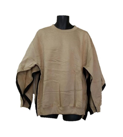BOTH SIDE OPEN SWEATSHIRT - KHAKI