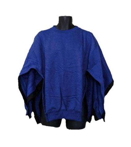 BOTH SIDE OPEN SWEATSHIRT - ROYAL BLUE