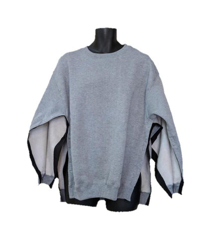 BOTH SIDE OPEN SWEATSHIRT - ASH GRAY