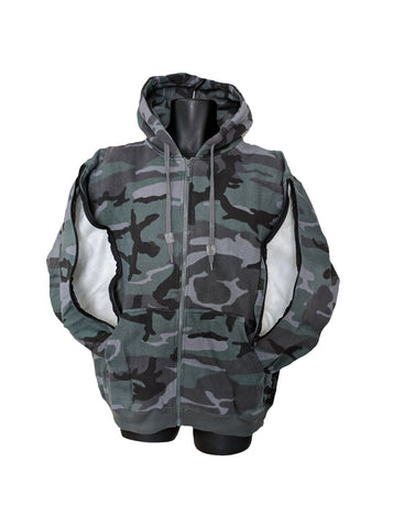PICC LINE ZIPHOOD DIALYSIS CHEMO - ARMY GRAY