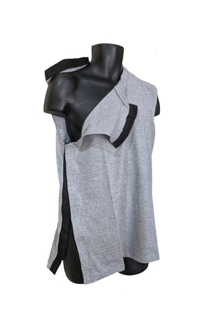 SIDE OPEN MUSCLE SHIRT for POST OP SHOULDER or ARM SURGERIES - ASH GRAY