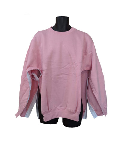 BOTH SIDE OPEN SWEATSHIRT - PINK