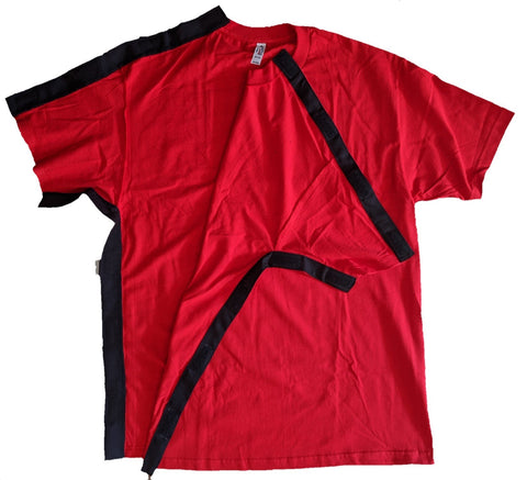 SIDE OPEN TSHIRT for POST OP SHOULDER or ARM SURGERIES - RED