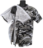SIDE OPEN TSHIRT for POST OP SHOULDER or ARM SURGERIES - CAMO GREY