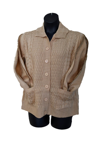 PICC CARDIGAN SWEATER - BEIGE