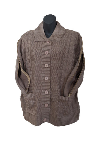 PICC CARDIGAN SWEATER - KHAKI
