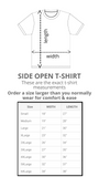 SIDE OPEN TSHIRT for POST OP SHOULDER or ARM SURGERIES - BLACK