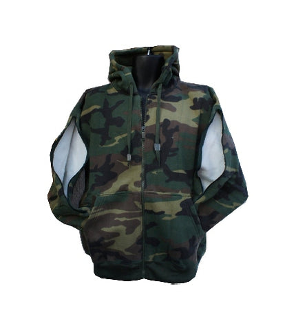 PICC LINE ZIPHOOD DIALYSIS CHEMO - ARMY GREEN