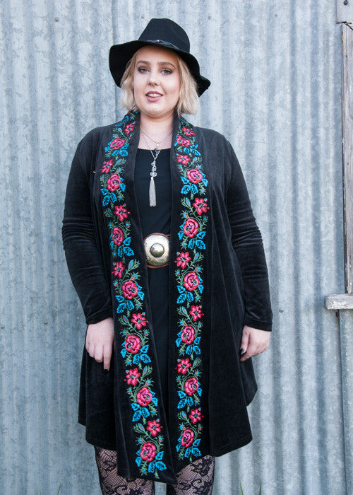 Eclectic gypsy velvet embroidered jacket