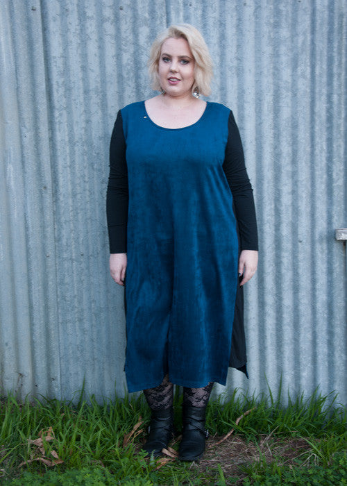 Soul Suede Spliced midi dress