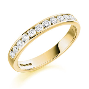 18ct Yellow Gold Channel Set Eternity Ring - 0.50ct