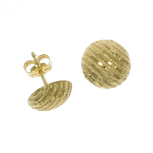 9ct Gold Textured Dome Studs
