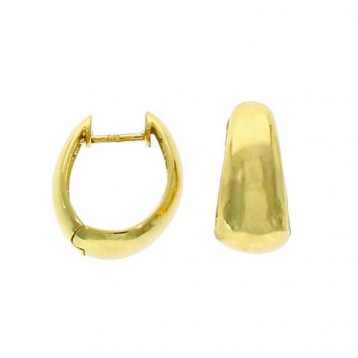 9ct Gold Polished Tapered Huggie Hoop Earrings