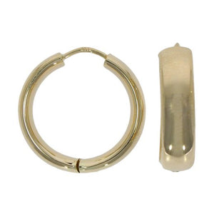 9ct Gold Round Huggie Style Hoops