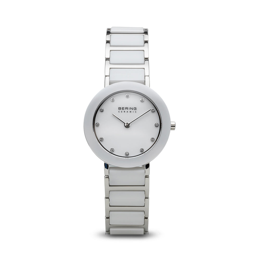 Bering Watch - Ladies White Ceramic and Steel
